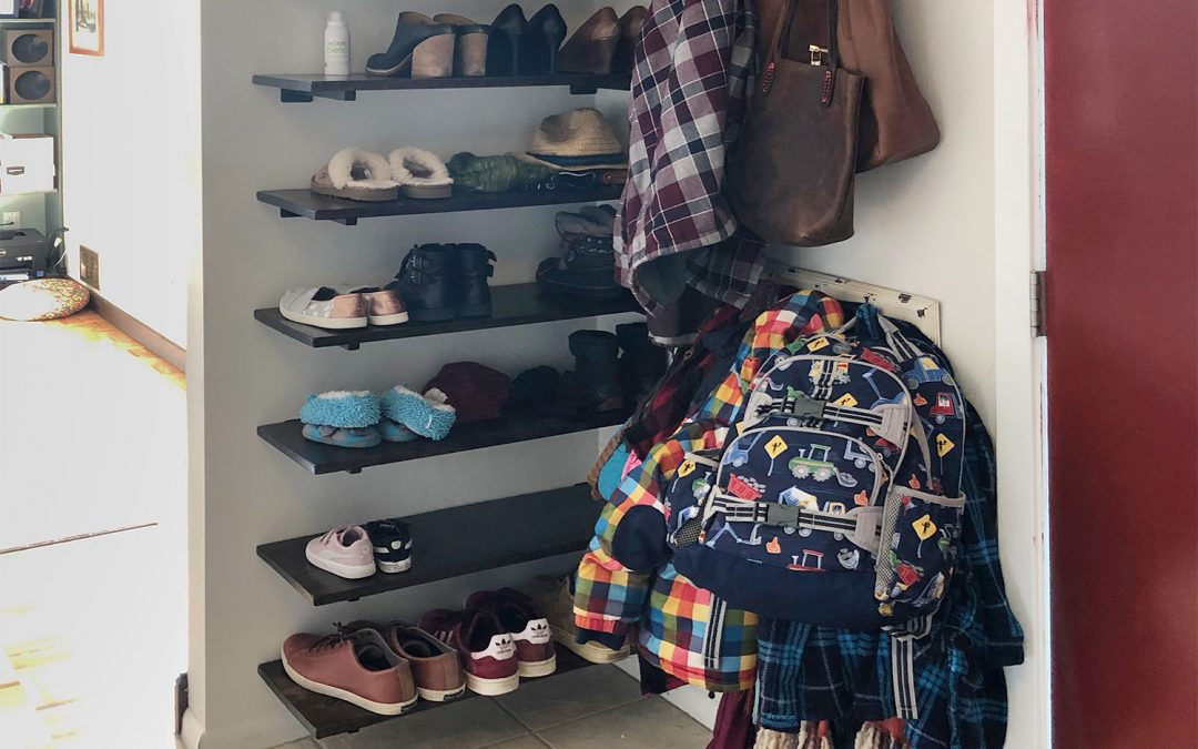 DIY Entryway Shoe Shelf