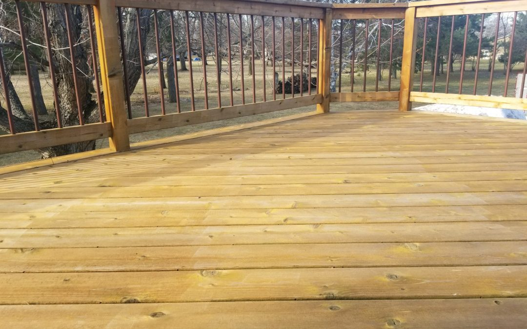 clean deck after being pressure washed